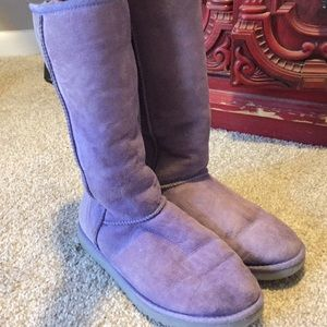 Tall purple UGG boots size 9